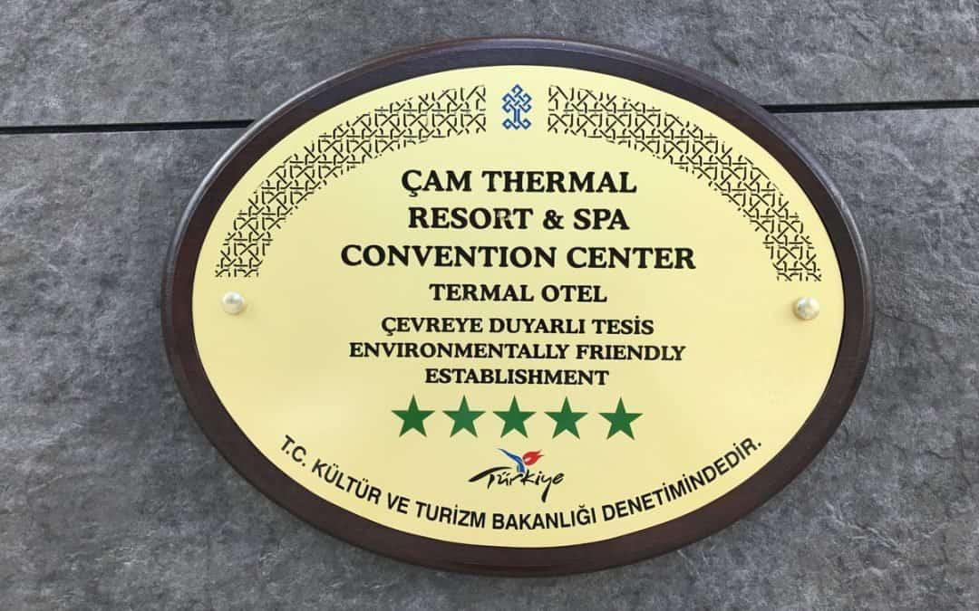 Doğa Dostu Otelimiz, Çevreye Duyarlı Oteller Kategorisinde Yeşil Beş Yıldız Belgesine Uygun Görülmüştür