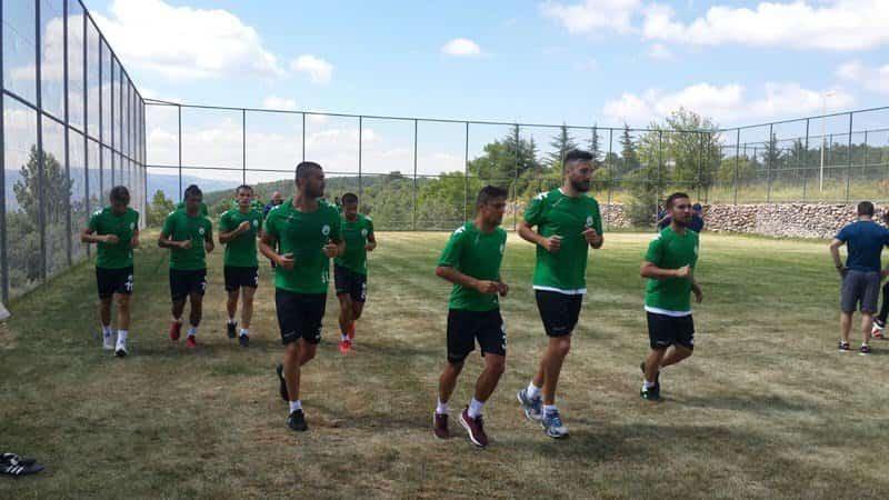 Giresunspor futbolcuları