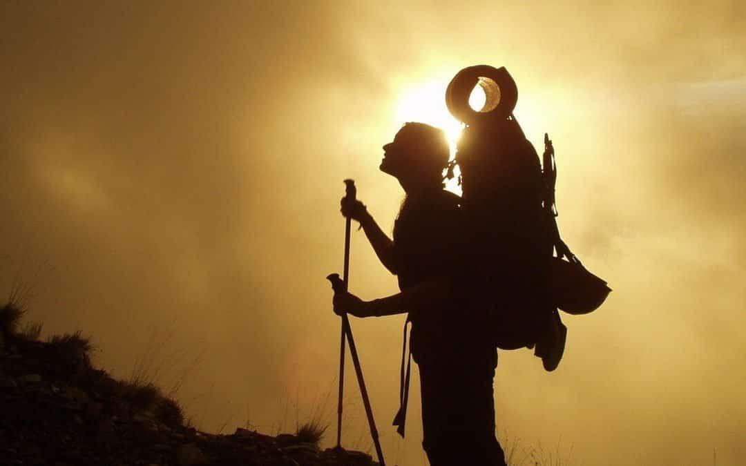 trekking yapan sporcu