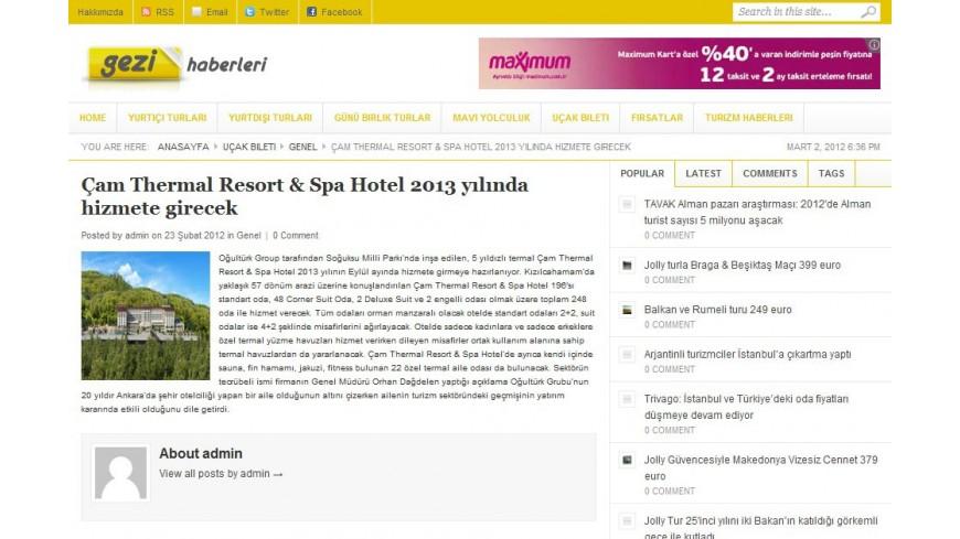 Çam Hotel - Gezi Haberleri