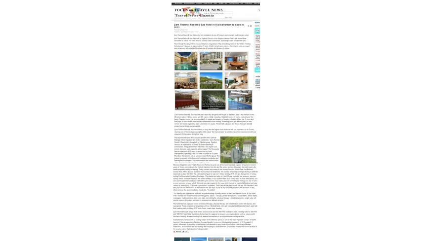 Çam Hotel - Focus on Travel News Turkey