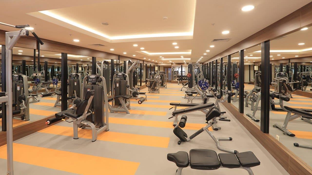 islami termal oteller, çam otel fitness salonu