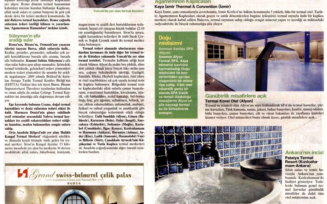 Çam Hotel, Hürriyet Gazetesinin Seçtiği En İyi 10 Termal Otel Arasında Yerini Aldı