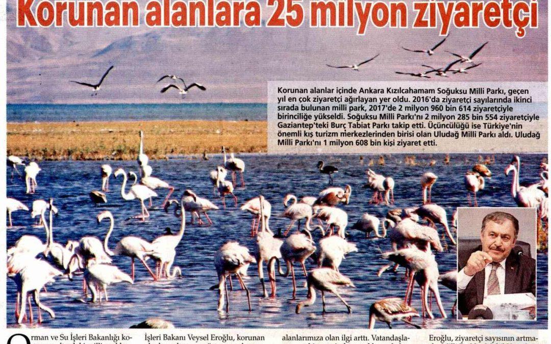 En Fazla Ziyaret Edilen Doğal Milli Park Kızılcahamam Oldu