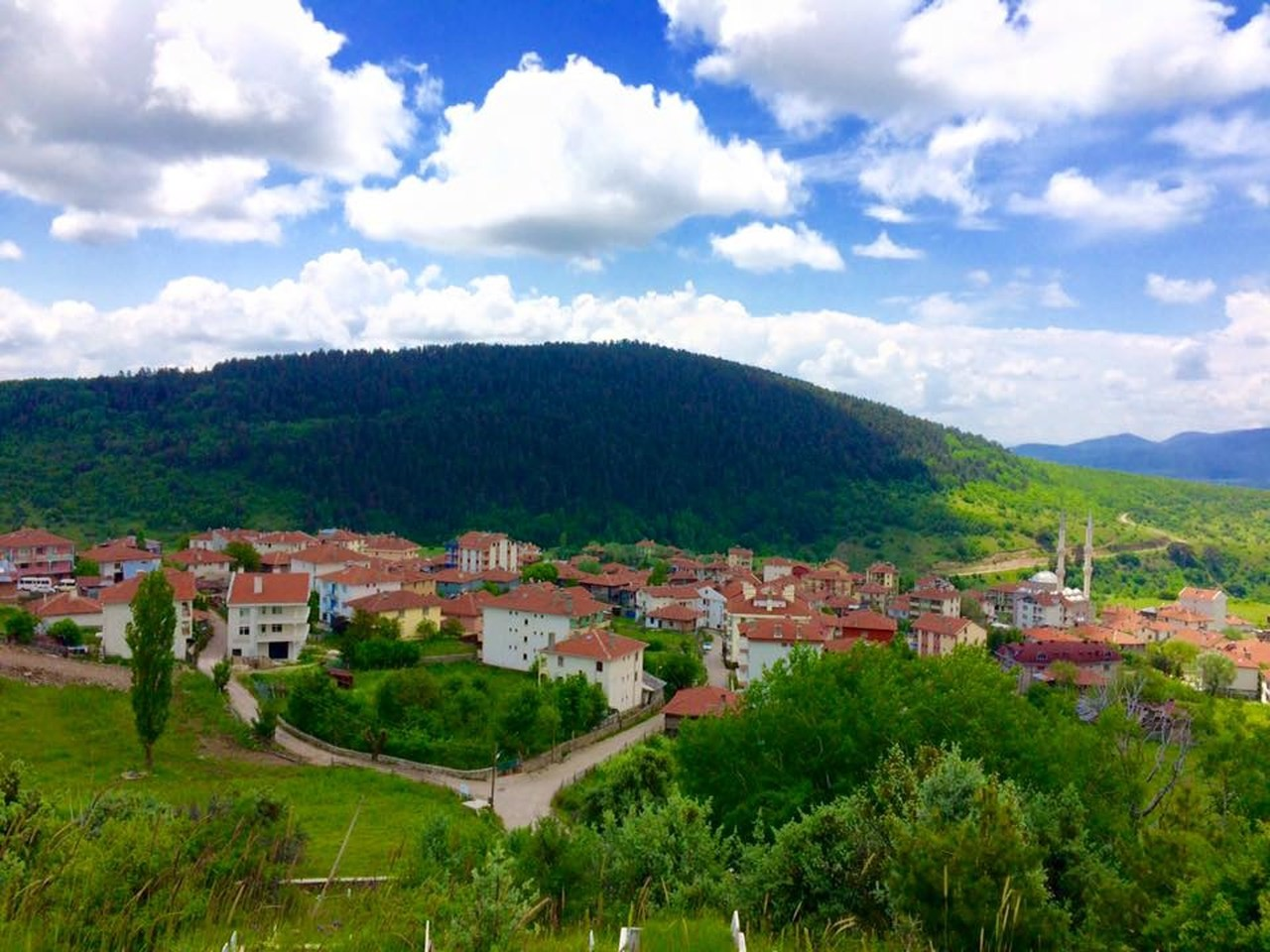 kızılcahamam köylerinin uzaktan çekilmiş fotoğrafı