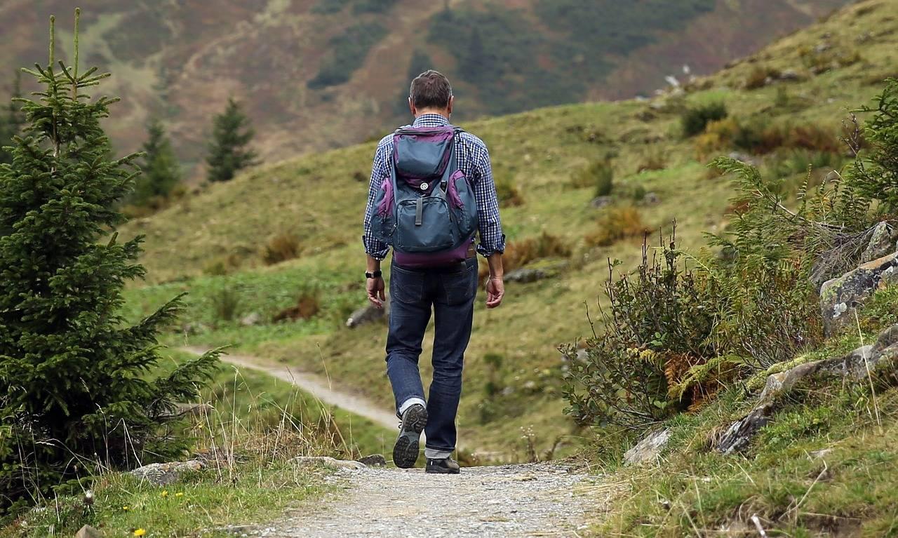 trekking nedir, manzara karşısında trekking yapan adam