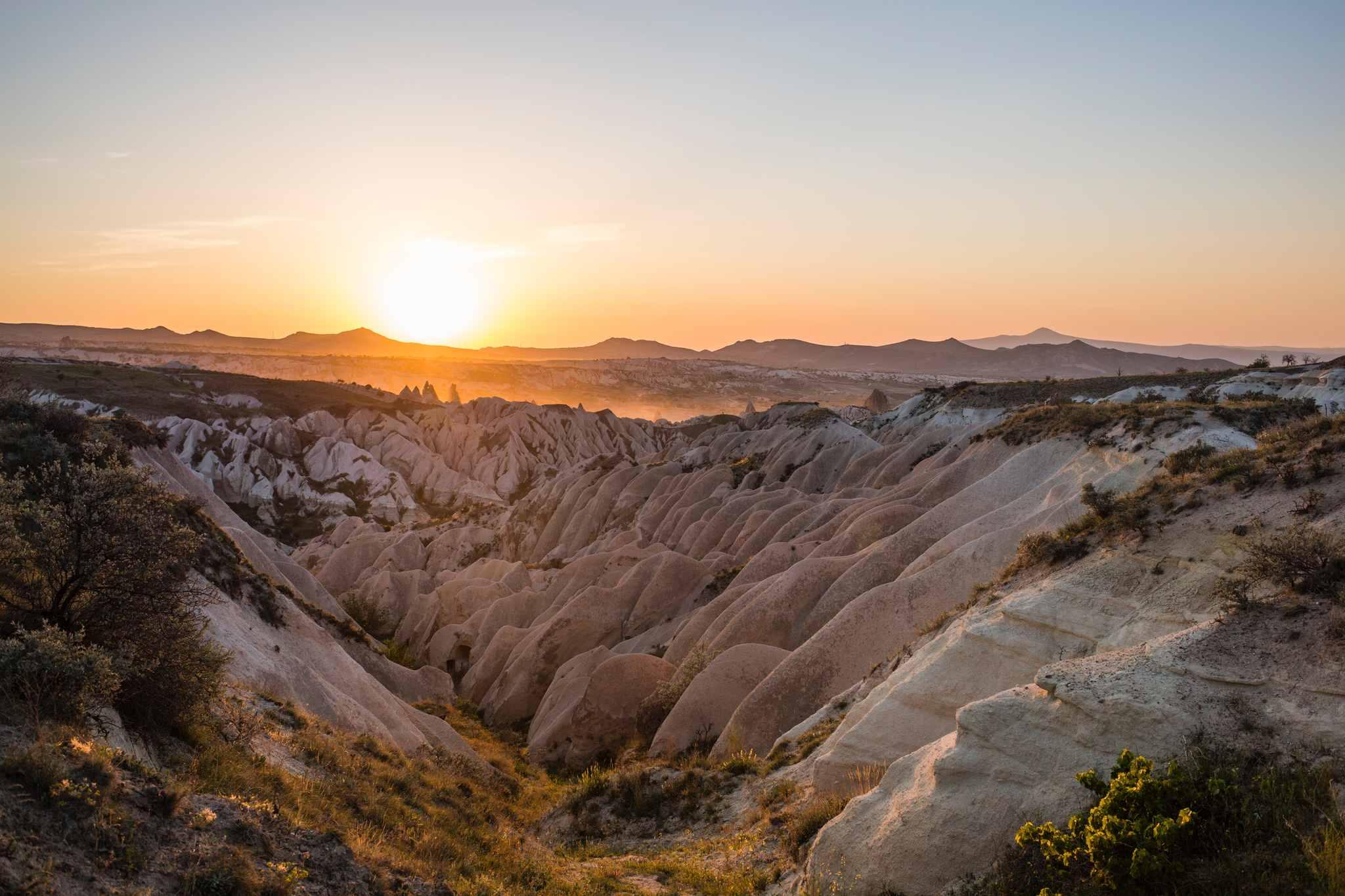 kapadokyada gün batımı, iç anadolu